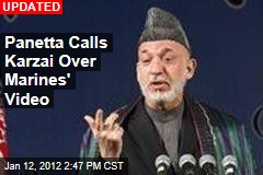 Panetta Calls Karzai Over Marines' Video