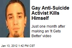 Gay Anti-Suicide Activist Kills Himself
