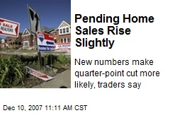 Pending Home Sales Rise Slightly