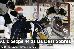 Auld Stops 44 as Bs Best Sabres