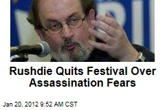 Salman Rushdie Quits Jaipur Literary Festival Over Assassination Fears