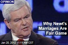 Why Newt Gingrich's Marriages Are Fair Game: Ariel Levy