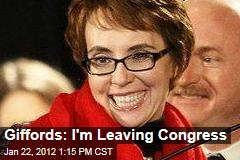 Gabby Giffords: I'm Leaving Congress