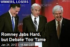 Mitt Lands Blows Newt, Debate Too Tame
