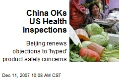 China OKs US Health Inspections