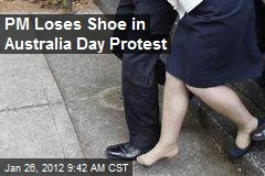 PM Loses Shoe in Australia Day Protest