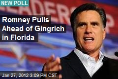 Romney Pulls Ahead of Gingrich in Florida