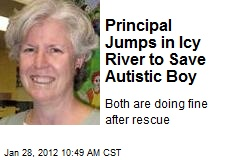 Principal Jumps in Icy River to Save Autistic Boy
