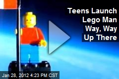 Teens Launch Lego Man Way, Way Up There