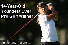 14-Year-Old Youngest Ever Pro Golf Winner