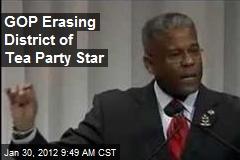GOP Erasing District of Tea Party Star