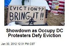 Showdown as Occupy DC Protesters Defy Eviction