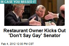Restaurant Owner Kicks Out 'Don't Say Gay' Senator