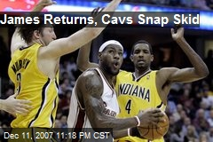 James Returns, Cavs Snap Skid