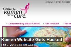 Komen Website Gets Hacked