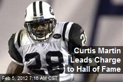 Curtis Martin Leads Charge to Hall of Fame