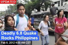 6.8 Quake Rocks Philippines