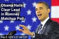 Obama Nails Clear Lead in Matchup Poll