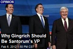 Why Gingrich Should Be Santorum's VP