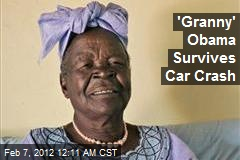 'Granny' Obama Survives Car Crash