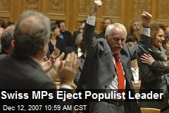 Swiss MPs Eject Populist Leader