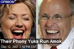 Their Phony Yuks Run Amok