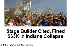 Stage Builder Cited, Fined $63K in Indiana Collapse