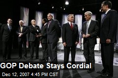 GOP Debate Stays Cordial