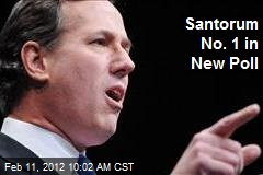 Santorum No. 1 in New Poll