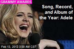 Adele Wins First Grammy of the Night