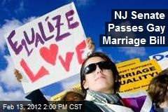 NJ Senate Passes Gay Marriage Bill