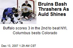 Bruins Bash Thrashers As Auld Shines