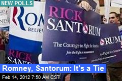 Romney, Santorum: It's a Tie