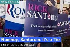 Romney, Santorum: It's a Tie