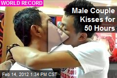 Male Couple Kisses for 50 Hours