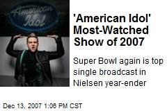 'American Idol' Most-Watched Show of 2007