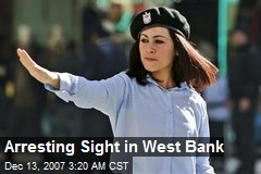 Arresting Sight in West Bank