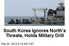 South Korea Ignores North's Threats, Holds Military Drill