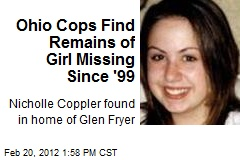Ohio Cops Find Remains of Girl Missing Since '99