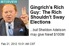 Gingrich's Rich Guy: The Rich Shouldn't Sway Elections