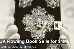JK Rowling Book Sells for $4M