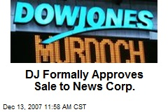 DJ Formally Approves Sale to News Corp.