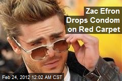 Zac Efron Drops Condom on Red Carpet