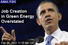 Job Creation in Green Energy Overstated