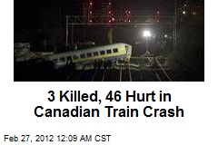 3 Killed, 46 Hurt in Canadian Train Crash