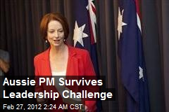 Aussie PM Survives Leadership Challenge