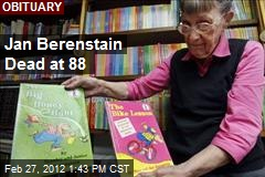Jan Berenstain Dead at 88