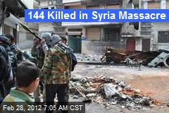 144 Killed in New Syria Massacre