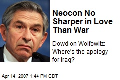 Neocon No Sharper in Love Than War
