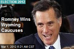 Romney Wins Wyoming Caucuses
